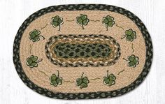 "PM-OP-116 Shamrock Oval Placemat 13""x19"""