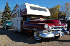 Cadillac camper goodness... would love to roll in one of these for a day! Wouldn't you? ;) #RVing #Camping