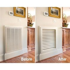DIY: Excellent how to on making a return air grille. Diy home decor on a budget | Susans Decor Home