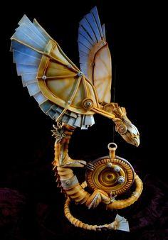 Steampunk Dragon - Cake by Dorothy Klerck