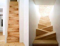 Steps of TAF Arkitektkontor — Architecture-Design -- Better Living Through Design Deco Design, Design Case, Design Room, Architecture Design, Stairs Architecture, Tiny House Stairs, Escalier Design, Interior And Exterior, Interior Design
