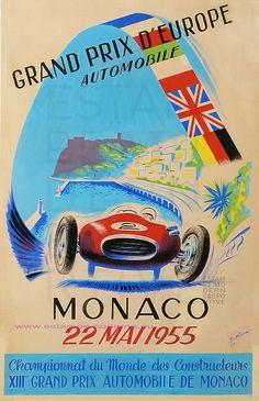 Poster for the 1955 Monaco Grand Prix #F1 #Formula1 #MonacoGP