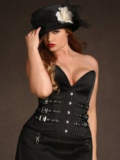 In the shadows of the night be feminine, yet tough, in our Natalya Steel Boned Corset. Gor...-oTETHBoR