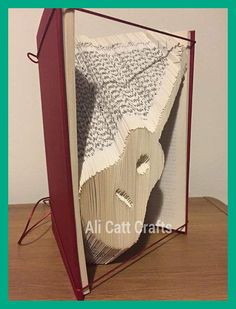 Guitar  Book Folding pattern by alicattcrafts on Etsy