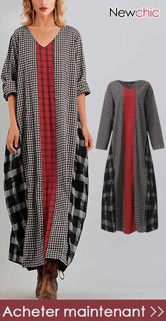 Robe longue drapée Les 3 suisses, 99,90 euros. Purepeople