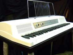 Wurlitzer White Vintage Piano Friend from the Vintage Keys, Vintage Music, Hammond Organ, Old Pianos, Electric Piano, Recording Equipment, Keyboard Piano, Drum Machine, Music