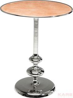 Bijzettafel Swing Leather - Zilver 55cm is een charmante tafel van Kare Design en is nu verkrijgbaar bij Furnies.nl!
