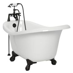 Old fashioned claw foot tub with bubble jets!!! (I found my bathtub!!! Perfect soaking tub!!!!)