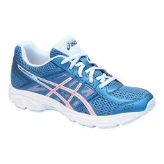 3aee2eb84298 Children s ASICS GEL-Contend 4 GS Running Shoe - Azure Frosted Rose Running  Shoes