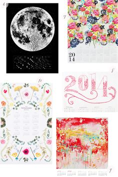 Oh So Beautiful Paper: Seasonal Stationery: 2014 Calendars, Part 4 Typography Letters, Hand Lettering, Cool Calendars, Floral Design, Graphic Design, Stationery Paper, Fun Prints, Illustration Art, Illustrations