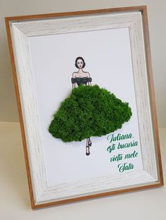 Moss Graffiti, Moss Art, Trees To Plant, Diy Art, Greenery, Diy And Crafts, Floral Design, Projects To Try, Wall Art
