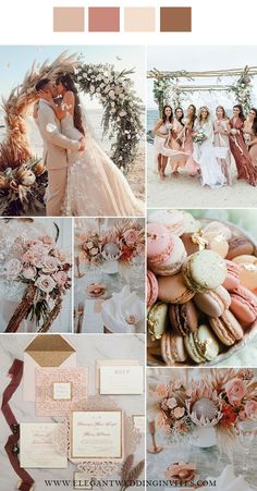 romantic shades of blush and pink beach side wedding colors Gold Beach Wedding, Beach Wedding Colors, Hawaii Wedding, Dream Wedding, Beach Color Schemes, Wedding Color Schemes, Wedding Themes, Wedding Ideas, Wedding Decor