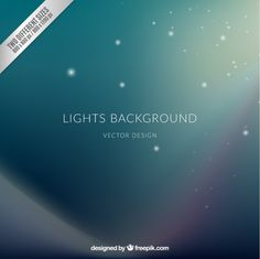 Green Lights Background I Free Vector