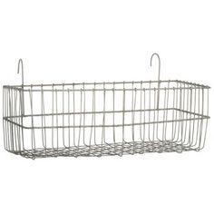 Metal-Wire-Hanging-Window-Basket-Oblong-Pot-Holder-Garden-Planter-by-Ib-Laurse