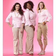 Plus Size Khaki Pants For Women