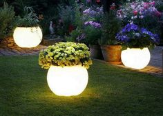 Bellart Atelier: Jardim - Vasos iluminados.