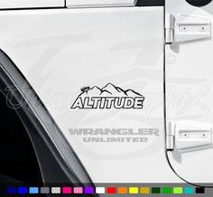 Jeep Altitude Custom Vinyl Decal 1 Pair