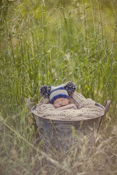 baby in a bucket #baby #photo #photography #ideas