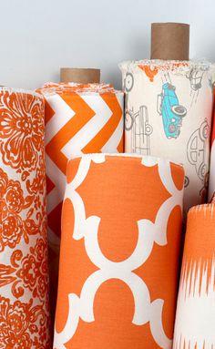 premier prints fabric decor diy sewing - Orange Decor