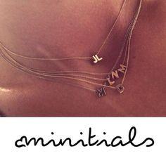 Minitials necklace