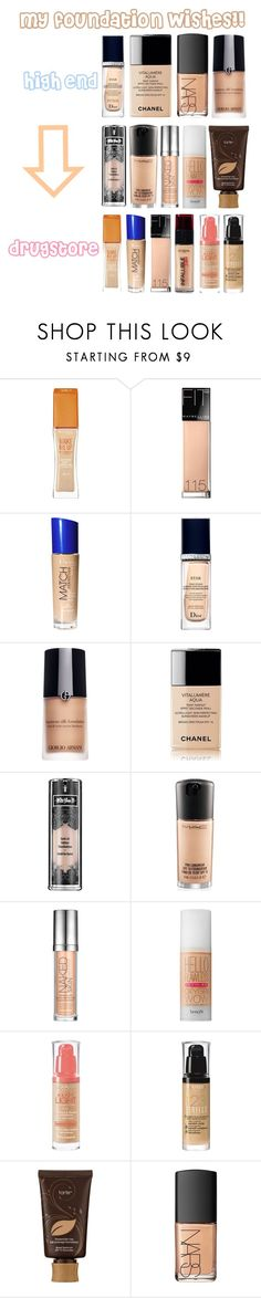 """""""foundation**"""" by sofia18-7 ❤ liked on Polyvore featuring beauty, Rimmel, Maybelline, Christian Dior, Giorgio Armani, Chanel, Kat Von D, MAC Cosmetics, Urban Decay and Benefit"""