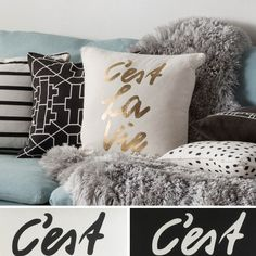 Black Throw Pillows: Place throw pillows on a bare sofa to spruce up the furniture's design. Free Shipping on orders over $45!
