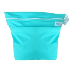 Lagoon -Our On-the-Go Wet/Dry Bag is the PERFECT double compartment wetbag for daytime outings, daycare, swim/gym class. Just bring it all home and wash! Holds 6-8 cloth diapers and keeps wet and dry items separate.