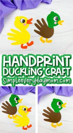 Bird Crafts Preschool, Pond Crafts, Duck Crafts, Farm Crafts, Preschool Kindergarten, August Kids Crafts, Holiday Crafts For Kids, Easter Crafts For Kids, Toddler Crafts