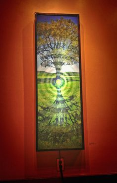 "Seed of Light 48"" x 16"" (light box) - Collin Rowland"