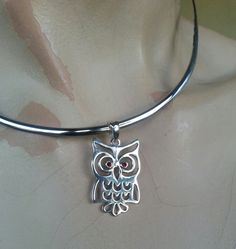 owl sterling silver bird pendant alternative by youareoutthere, $35.00