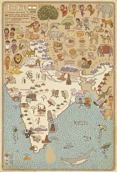 We've searched high and low to bring you creative, inspirational and amazing illustration art from around the world. Part 9 of our successful Illustration inspiration series. Vintage Travel Posters, Vintage World Maps, Map Globe, Thinking Day, Old Maps, Map Design, Map Art, Sri Lanka, How To Draw Hands