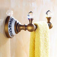 浴室タオルラック タオル掛け タオル収納 ハンガー バス用品 真鍮製 アンティーク調 ブロンズ