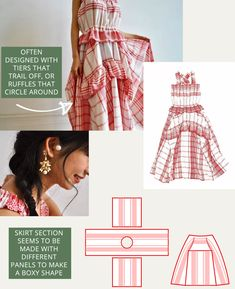 Ruching, Pleating, Gathers and Ruffles at Houga - The Cutting Class Pattern Cutting, Pattern Making, Wide Stripes, Pattern Drafting, Sewing Hacks, Sewing Tips, Gray Dress, Ruffles, Floral Prints