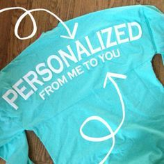 Personalized From Me To You Spirit Jersey Mint $40 with FREE SHIPPING! i want one for greeek life