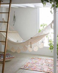 """The weekend's here! #indoorhammock #relax #weekend"""