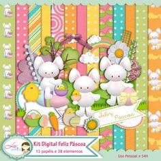 Kit Digital Feliz Pascoa by Lu Ifanger