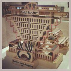 Bodys Isek Kingelez model city at An Alternative Guide To The Universe - Hayward Gallery.