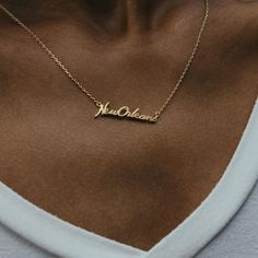We've recently become proud vendors of @beaucoupdesigns! Their necklaces show love to lots of Louisiana cities. We've got Baton Rouge, NOLA, Lafayette, & Lake Charles in-store to name a few. Come and get one to rep city! // #shophkyle