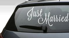 Just Married Vinyl Car Decal for Honeymoon Car $26.00