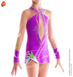 Rhythmic Gymnastics Leotard Ice Figure Skating Dress  24 by Modlen, $129.99