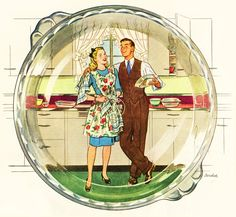 Greatest hits: The 50 most popular stories about renovating a or house Read more: Vintage retro home design -- My 50 top stories! Pyrex Vintage, Retro Vintage, Vintage Love, Vintage Images, Retro Ads, Vintage Apron, Vintage Kitchenware, Vintage Glassware, Vintage Girls