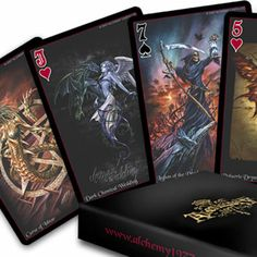 Alchemy 'The Black Arcana' Playing Cards