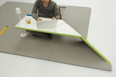 Land Peel lounge floor mat becomes a table, seat, backrest and more