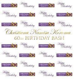 Christiana 60th Birthday Bash Step Repeat