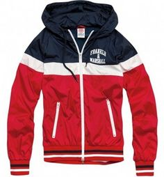 Red Franklin Marshall Mens jackets with Hoody On Sale [Red Franklin Marshall Mens jackets] - $70.50 : letterman jackets cheap