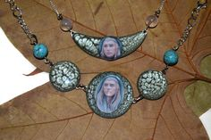 Necklace and bracelet set  Elven King fantasy art by JankaLart