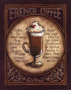 French Coffee, Art Print by Gregory Gorham