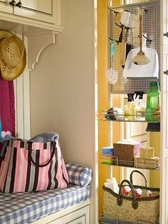 Pull out organizer cabinet for the right of drier - in my future laundry room!