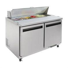 Mostrador frigorífico de preparación 2 puertas 405 litros Polar
