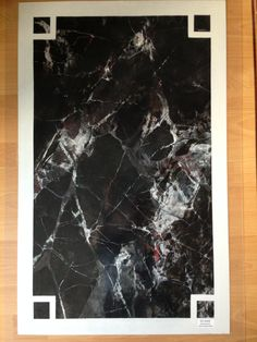 Marbled panel for the graining and marbling olympics African Black Marble Painting, Black Marble, Travertine, Marbles, Kitchens, Wood, Home Decor, Rock, Decoration Home